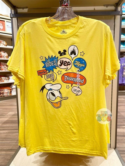 DLR - Graphic Tee - Donald Pop Art Dialog Box Disneyland (Adult)