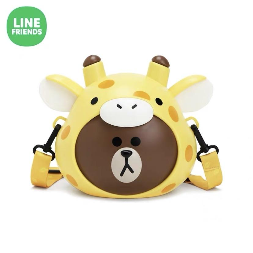 Korea LINE FRIENDS - Brown Bear Crossbody Popcorn Bucket - Giraffe