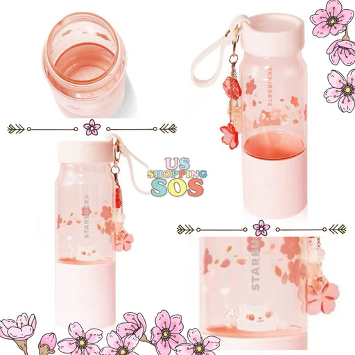 New Starbucks 2020 China Sakura Play With Cat 16oz Cold Water Bottle Tumbler