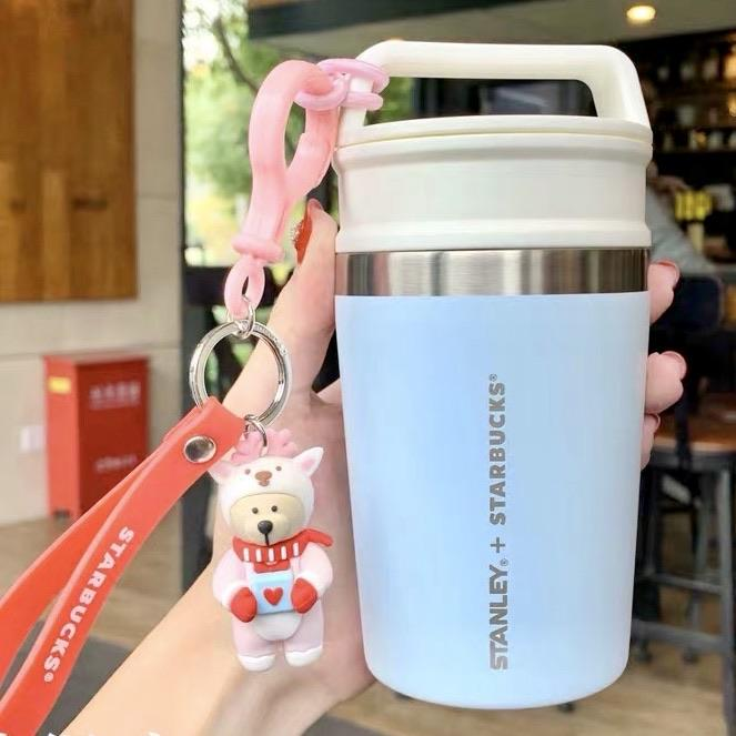 Starbucks China - Christmas Wave - 236ml Stanley Stainless Steel Tumbler with Reindeer Chain