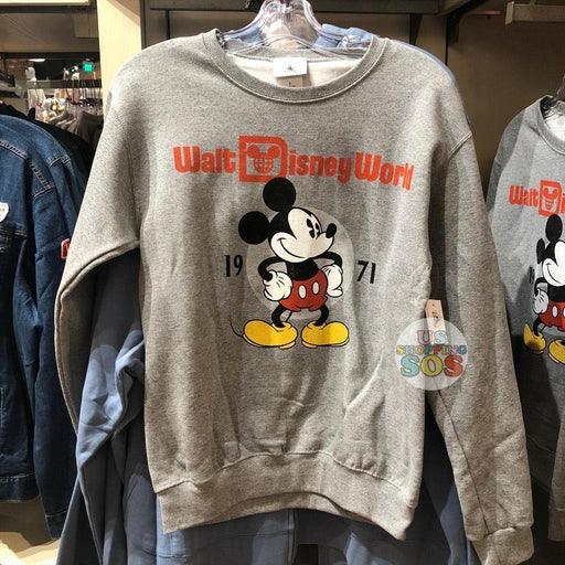 "WDW - Classic Mickey Mouse ""Walt Disney World"" Pullover Light Grey (Adult)"