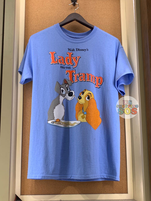 DLR - Graphic T-shirt - Lady & the Tramp (Adult) (Powderblue)