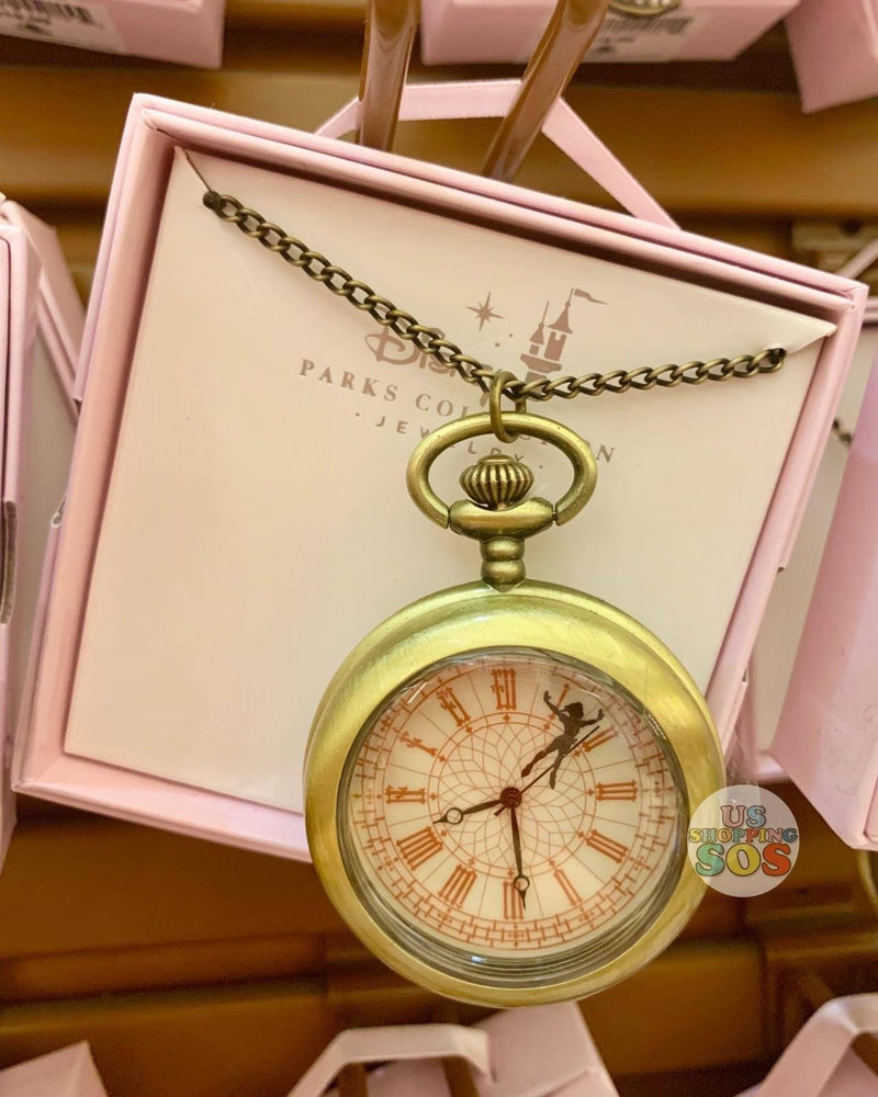 DLR - Disney Parks Jewelry - Pocket Watch Necklace - Peter Pan
