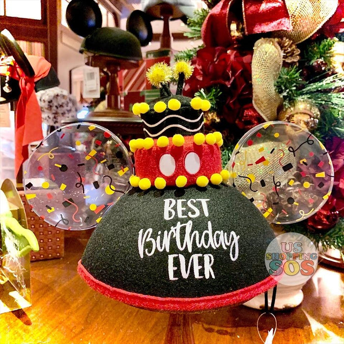 "DLR - Mickey Mouse Birthday Ear Hat ""Best Birthday Ever"""