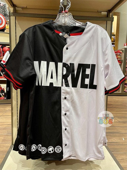 DLR - Marvel Black & White Baseball Shirt (Adult)