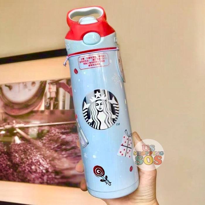 Starbucks China - Christmas Wave - 560ml Contigo Christmas Stainless Steel Water Bottle