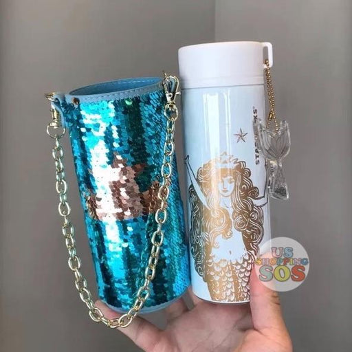 Starbucks China - Siren - Siren Stainless Water Bottle with Sequin Pouch (12oz)