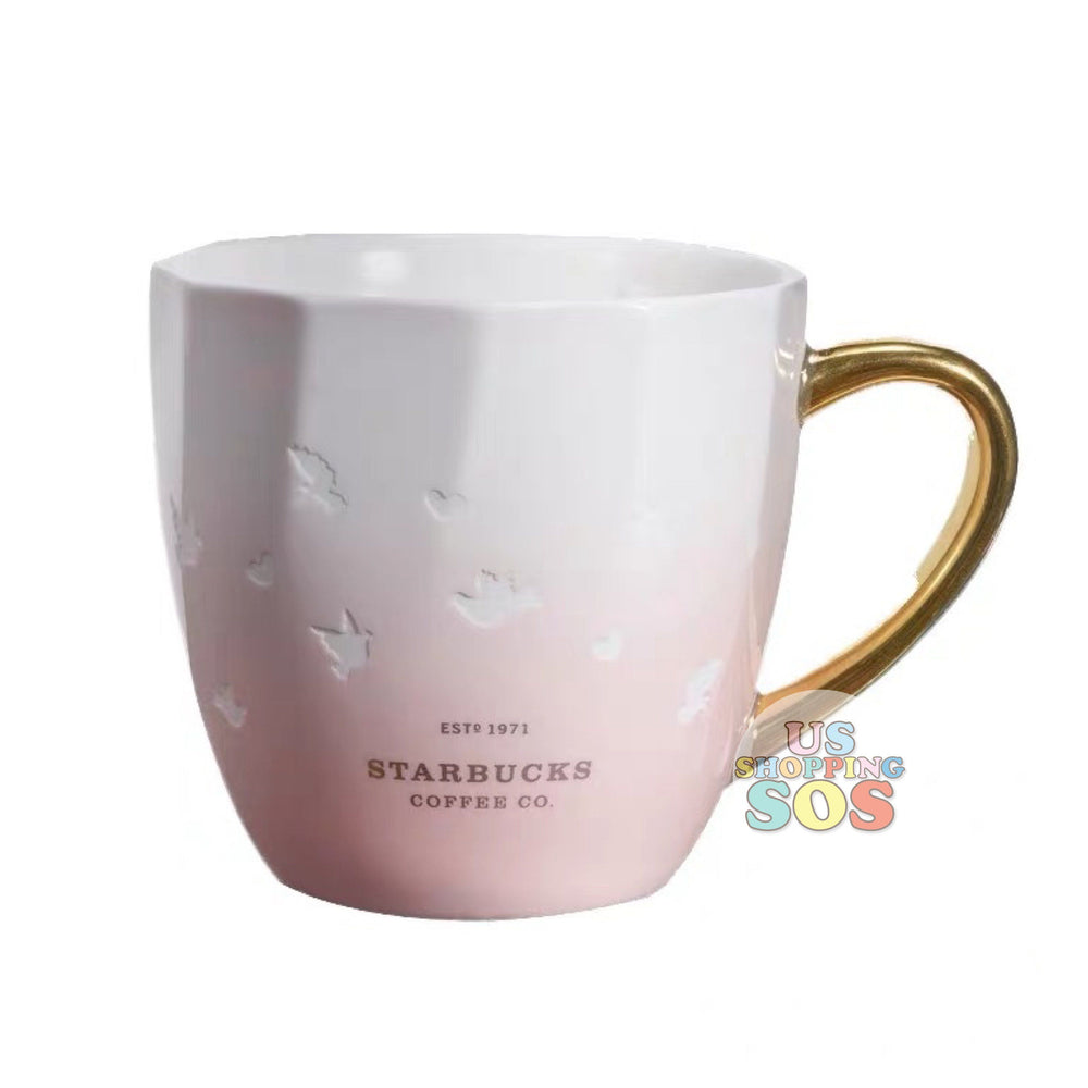 Starbucks China - Valentine 2020 - Love & Peace Heart Dove Petals Ombré Mug (355ml)