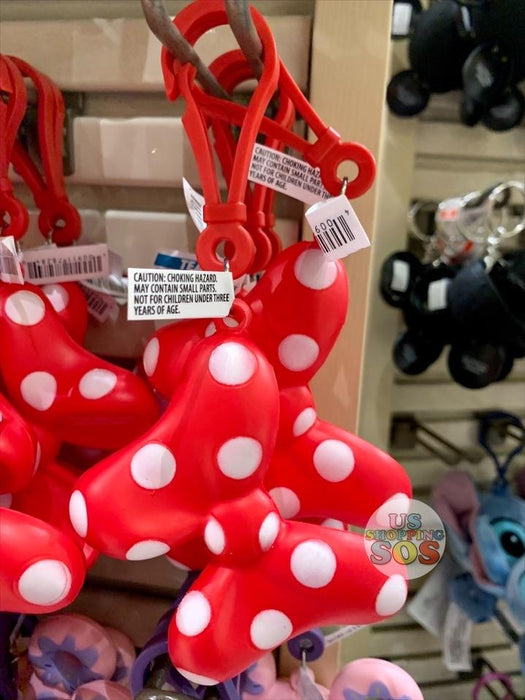 DLR - 3D Squeeze Keychain - Minnie Bow