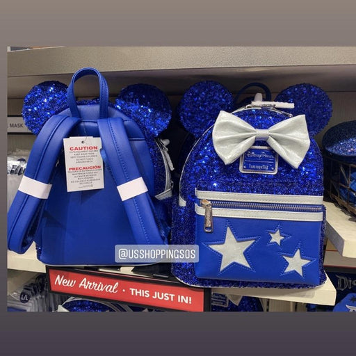 DLR - Wish Come True Blue 💙 - Loungefly Minnie Sequin Backpack