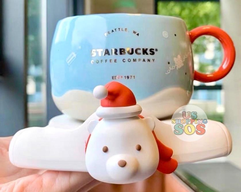 Starbucks China - Christmas Wave - 380ml Polar Bear Mug & Saucer Set