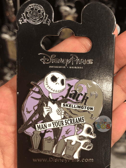 DLR - The Nightmare Before Christmas Pin - Jack Skellington Man of Your Screams