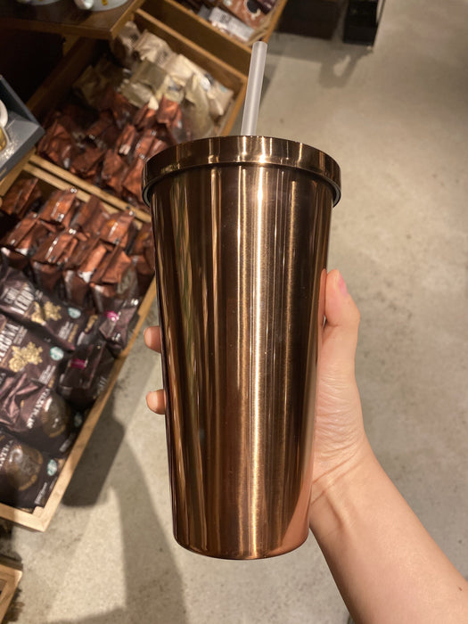 Hong Kong Starbucks - Metal Like Cold Cup - Brown