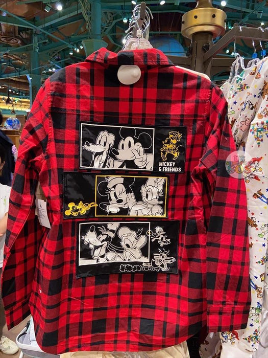 SHDL - Long Sleeve Shirt Mickey Mouse & Friends (Red & Black)