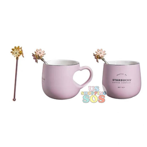 Starbucks China - Valentine 2020 - Love & Peace Heart Handle Mug with Stir (320ml)