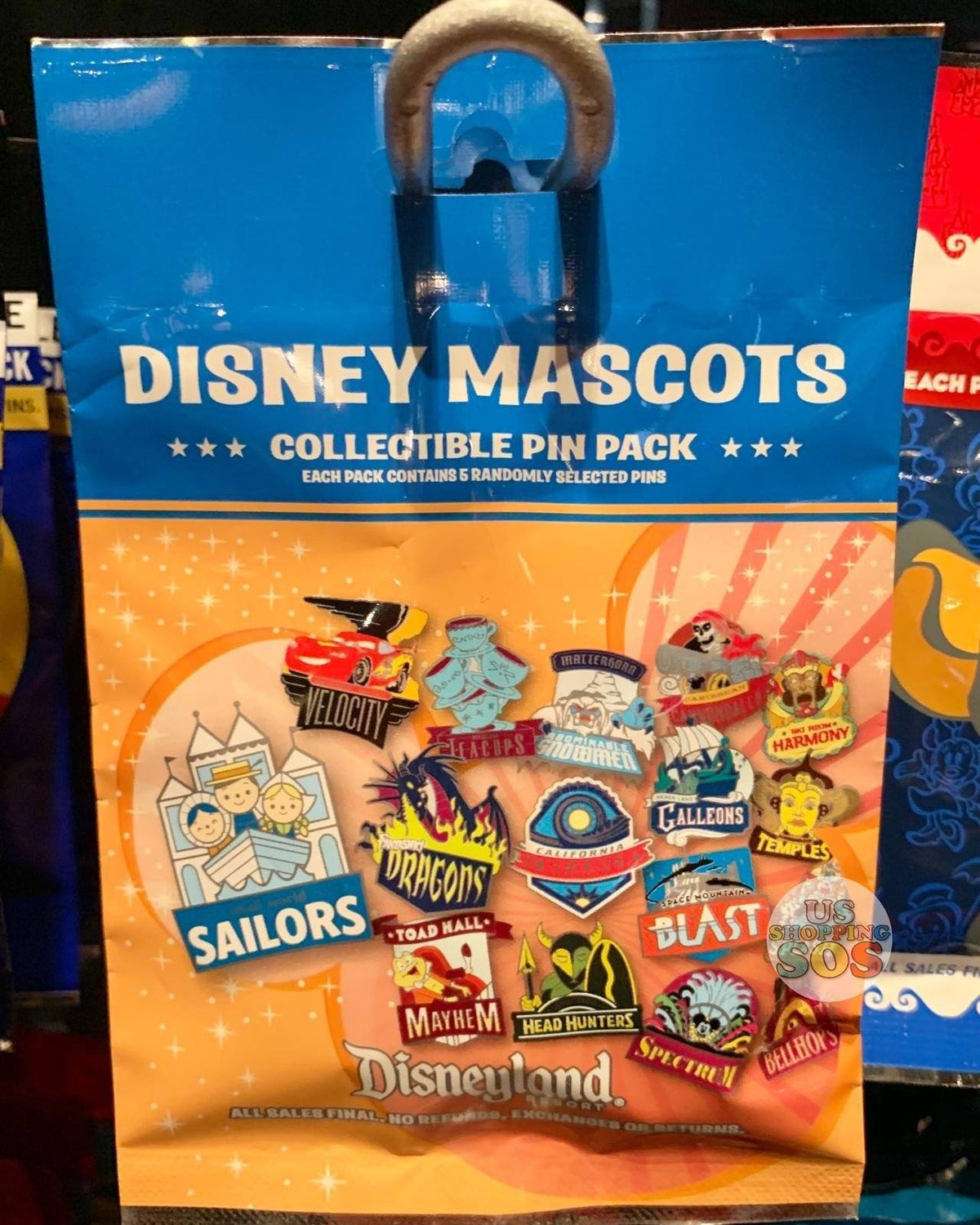 DLR   Mystery Collectible Pin Pack   Disney Mascots