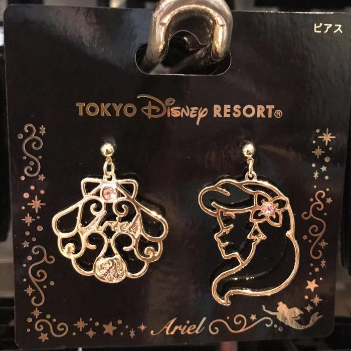 TDR - Face Icon Pierced Earrings Set - Ariel