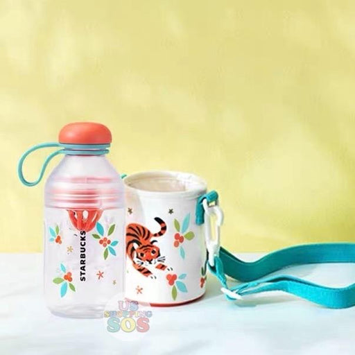 Starbucks China - Cherish Cutie - Thermos Tiger Water Bottle with Crossbody Holder 430ml