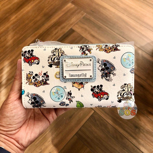 WDW - Mickey & Minnie's Runaway Railway - Loungefly All-Over-Print Wallet