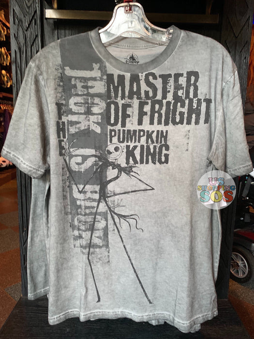 "DLR - The Nightmare Before Christmas Apparel - Jack Skellington ""Master is Fright Pumpkin King"" T-shirt"