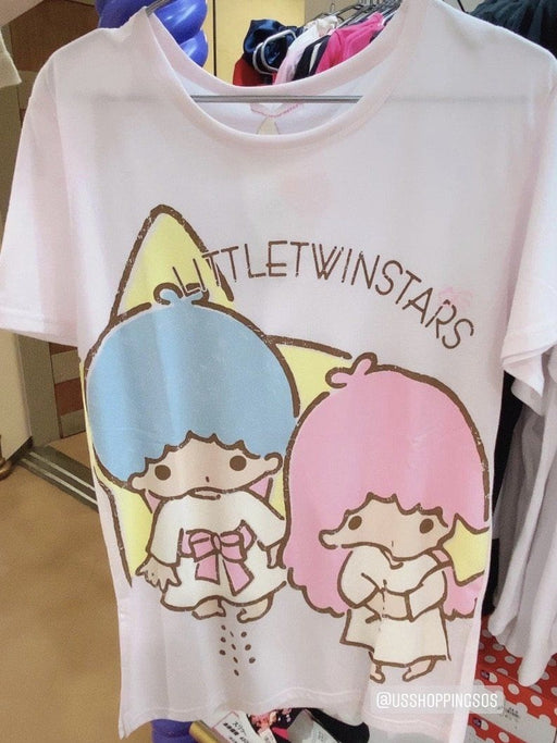 Japan Sanrio Puroland - Sanrio Characters Long T-shirt x Little Twin Stars