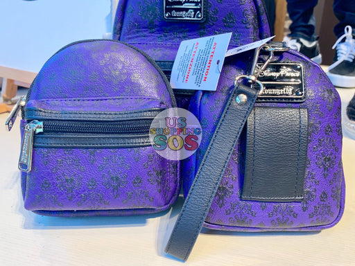 DLR - Loungefly Haunted Mansion Wallpaper Backpack Wristlet