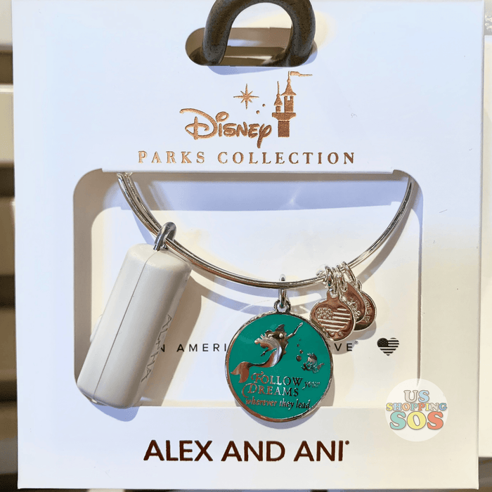 "DLR - Alex & Ani Bangle - Princess Ariel ""Follow your Dreams wherever they lead"""