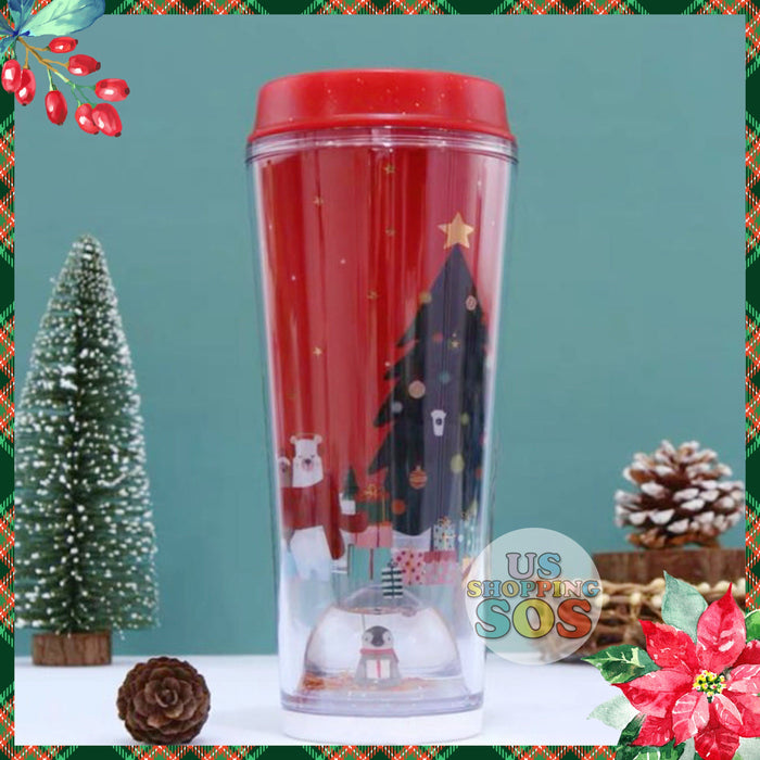Starbucks China - Christmas Time 2020 (Store 1st Series) - Penguin Snow Globe ToGo Tumbler 355ml