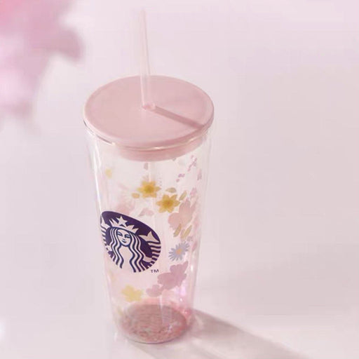 Starbucks China - Sakura 2021 - Cherry Blossom Double Wall Glass Cold Cup 591ml