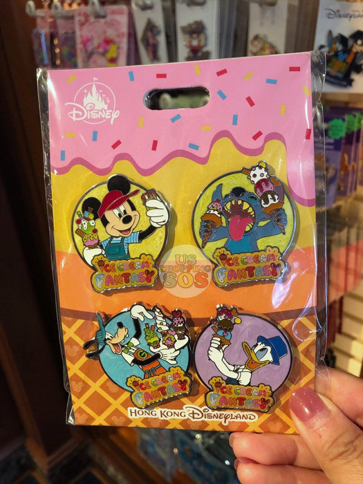 HKDL - Ice Cream Fantasy Collection - Pins Ste