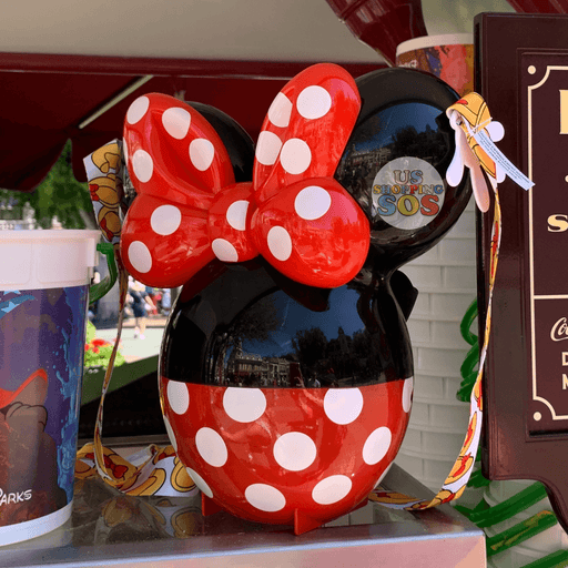 DLR - Minnie Icon Balloon Popcorn Bucket
