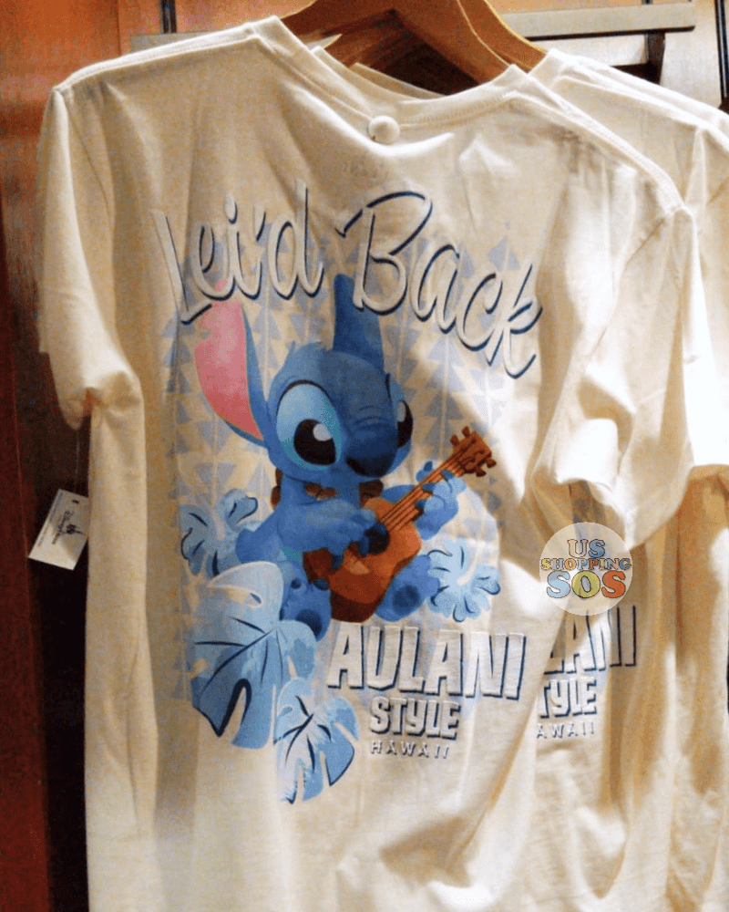 "Aulani - Stitch ""Lei'd Back"" Tee (White)"