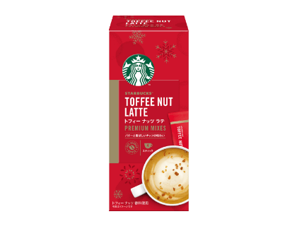 Starbucks Japan - Holiday Seasons Blend 2020 - Premium Mixed Toffee Nut Latte 4-Bag Box