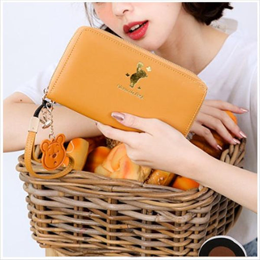 Taiwan Exclusive - Disney Sweet Garden Bronzing Classic Long Wallet - Winnie the Pooh