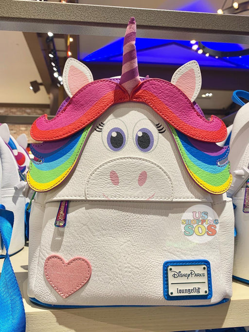 DLR - Loungefly Inside Out Backpack - Rainbow Unicorn