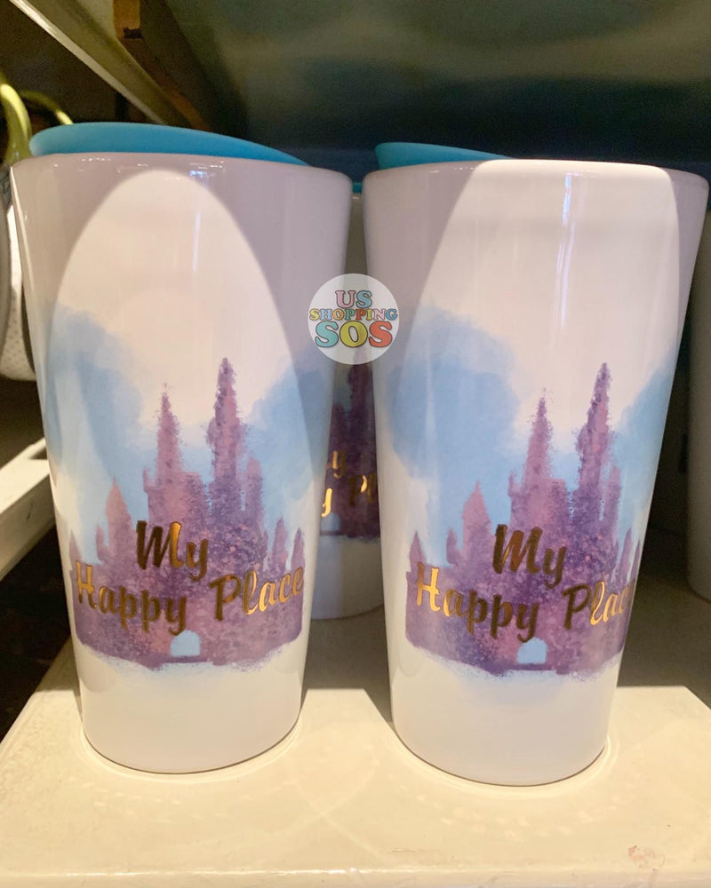 "DLR - Script Double Wall Tumbler - ""My Happy Place"""