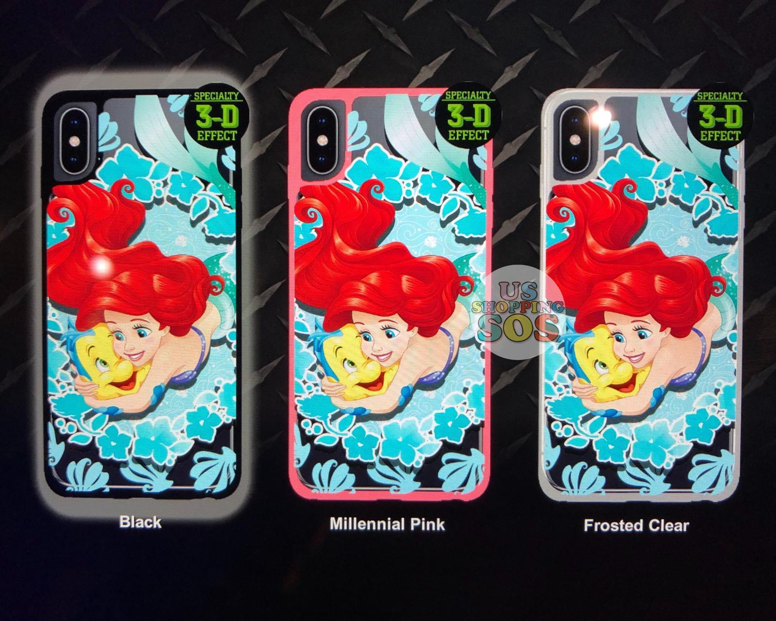 DLR - Custom Made Phone Case - Princess with Friends - Ariel & Flounder (3-D Effect)