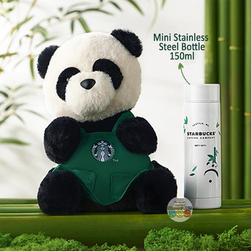 Starbucks China - Bamboo Panda - Plush Bag with Mini Stainless Steel Bottle 150ml