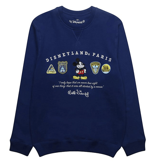Paris Disneyland - Mickey Mouse Blue Logo Sweatshirt For Adults