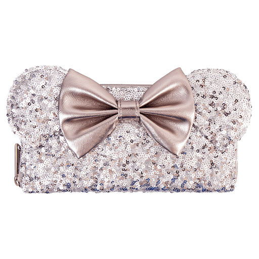 e2c95a32916 Australia Zing Exclusive - Loungefly Long Wallet - Minnie Ears   Bow Sequin  Silver