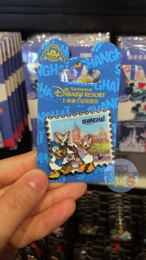 SHDL - I Mickey SH Collection - Pin x Stamp Shape - Donald & Daisy Duck