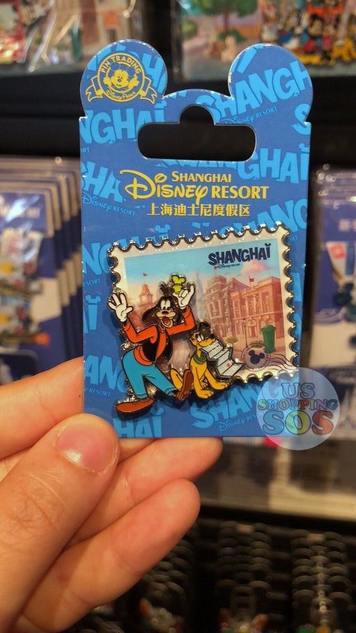 SHDL - I Mickey SH Collection - Pin x Stamp Shape - Goofy & Pluto
