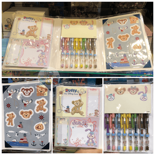HKDL - Sticky Notepads & Gel Pens & Stickers Booklet x Duffy & Friends