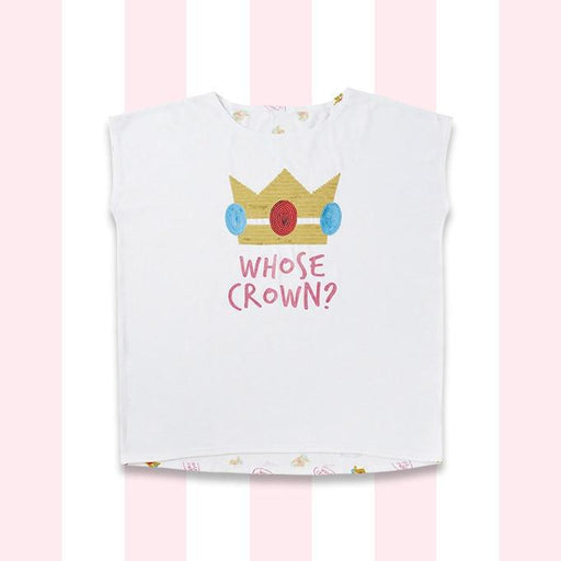 USJ - Super Nintendo World - T-shirt (Big) x Princess Peach (Whose Cap?) (Adult)