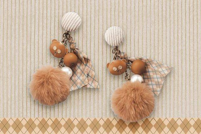 USJ - Bob's Favorite Bear Autumn Story - Minion Earring (Tim & Pom Pom)