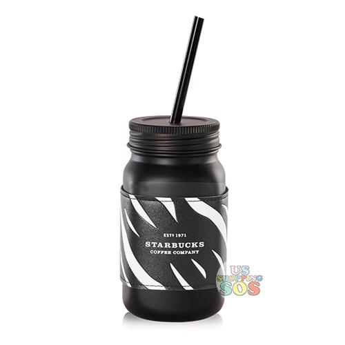 Starbucks China - Wild Black & White - Zebra Mason Stainless Steel Sipper 473ml