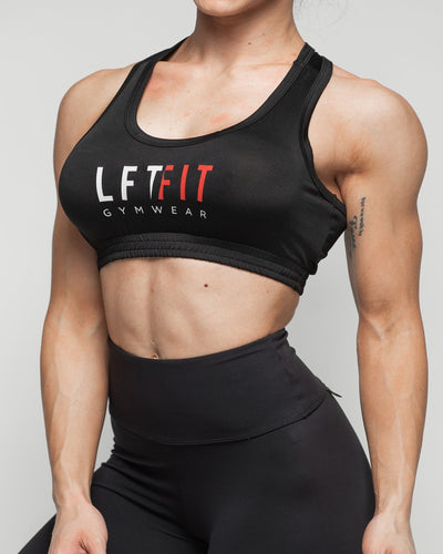 LFTFIT Sports Crop Top - Black