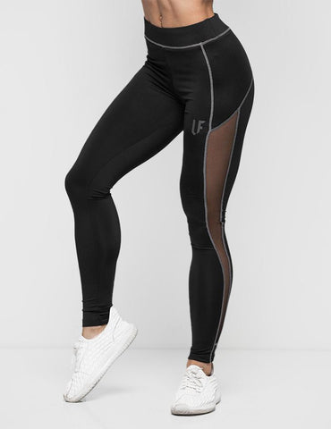 LF Mesh Inset Leggings - Black