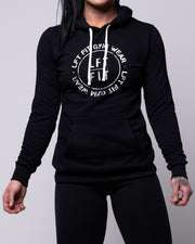 LFT FIT Distressed Circle Pullover Hoodie - Black