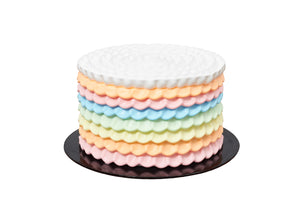 Rainbow Ruffled Cake
